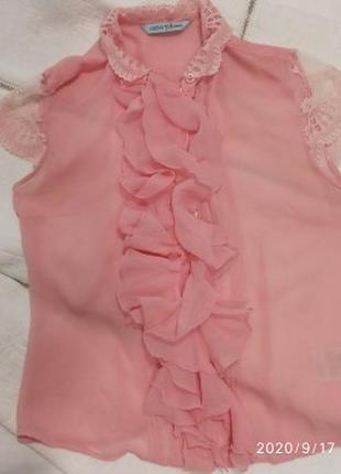 Нежнейшая кребдешиновая блузка от guess by marciano