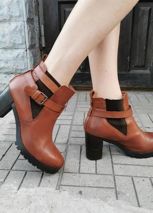Стильные кожаные ботинки, 43 размер, (28.5см)