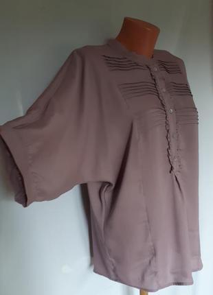 Стильная визкозная нюдовая блуза zara (размер 36-38)