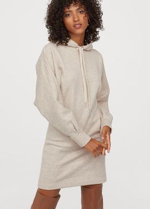 Новое платье, туника, свитшот, толстовка на флисе h&m. размер xs-s