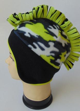Теплая шапка-ирокез из двойного флиса, chapter young, takko, 8-15 лет