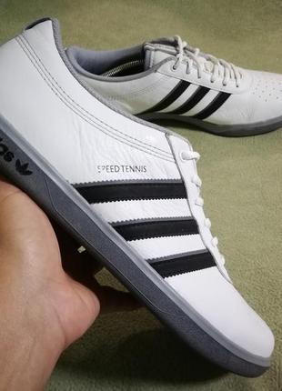 Кожаные  кроссовки adidas speed tennis