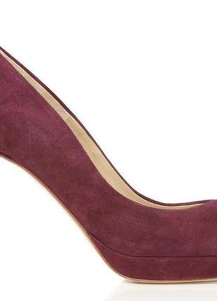 Фіолетові туфлі замша hobbs р36 італія