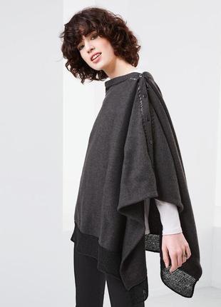Флисовый xl шарф/пончо/кардиган tchibo (германия), 200x70 см