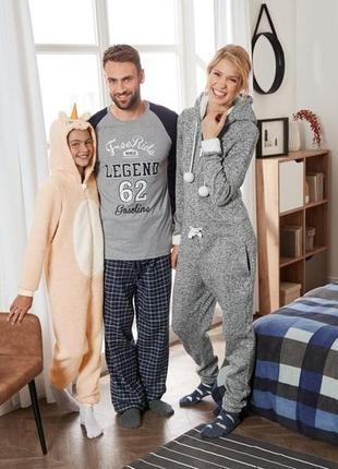 Комфортная. мягкая пижама. домашний костюм livergy с фланелевыми штанами