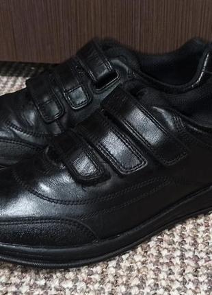 Кроссовки clarks черные натуральная кожа. размер 36