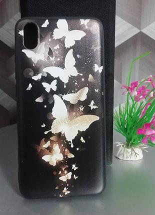Силиконовый чехол для xiaomi redmi 7a бабочки