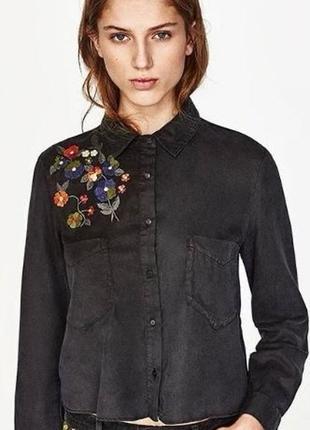 Рубашка zara блуза zara блузка zara