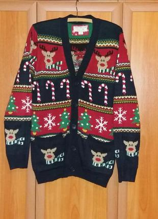 Новогодний свитер , кардиган