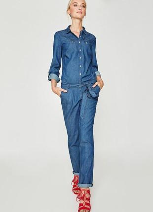 Комбинезон джинсовый брючный длинный рукав