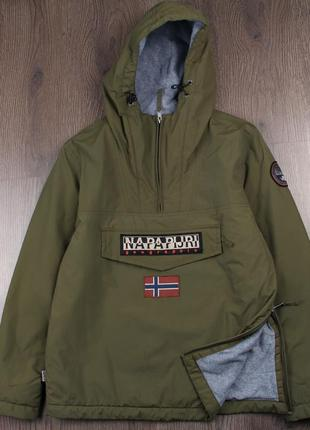 Napapijri rainforest anorak fleece winter green