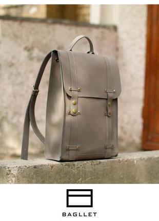 Кожаный рюкзак bagllet с отделением для ноутбука