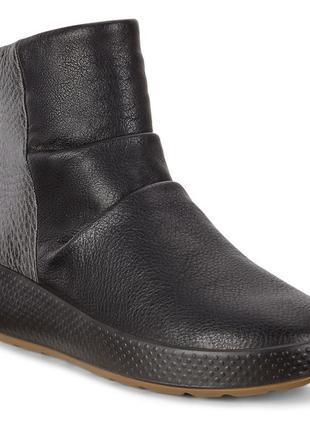 Ботинки сапоги женские ecco ukiuk чёрные 221073