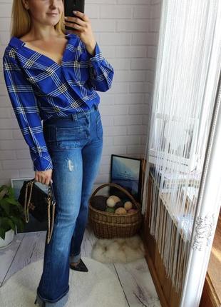 Трендовые широкие джинсы клеш zara в винтажном стиле