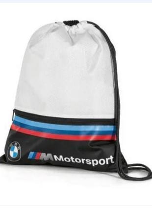 Спортивная сумка-мешок bmw m motorsport sports bag, white/black
