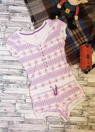 Пижама боди ночнушка комбинезон яркая с коротким рукавом