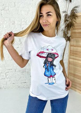Суперская футболка хлопок оригинальный принт. базовая футболка принт хлопок