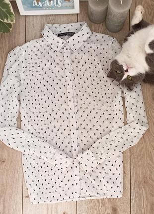 Шифоновая блуза в сердечки