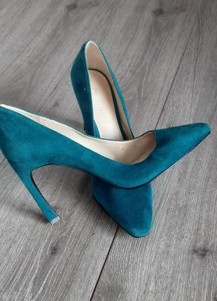 Туфли лодочки замша на высоком каблуке размер 38-38,5