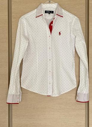 Рубашка женская премиум бренд ralph lauren размер s