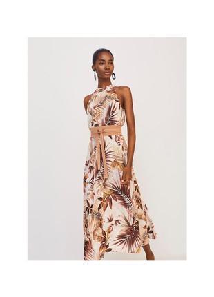 Распродажа длинное летнее платье цветочный принт в цветочный принт mango не zara