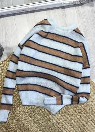 Мягкий свитер шерстяной свитер мохеровй свитер