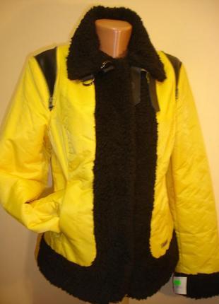 """Демисезонная куртка с меховыми вставками """"gipsy """" 12-14 р"""