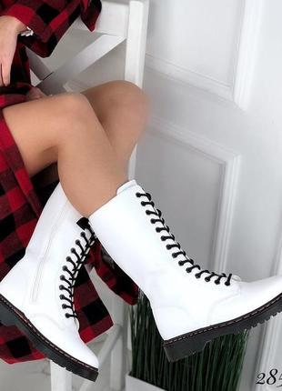 Ботинки демисезон белые
