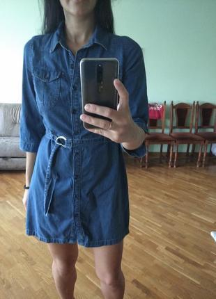 Ежедневное, джинсовое платье из денима