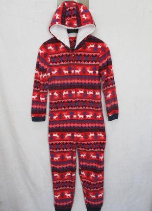 Тёплый флисовый человечек  слип кигуруми человечек пижама