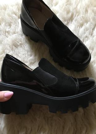 Ботинки на тракторной подошве натуральная кожа 36 о-р