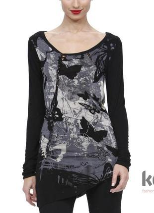 Кофта desigual лонгслив с длинным рукавом водолазка desigual блуза ассиметричная