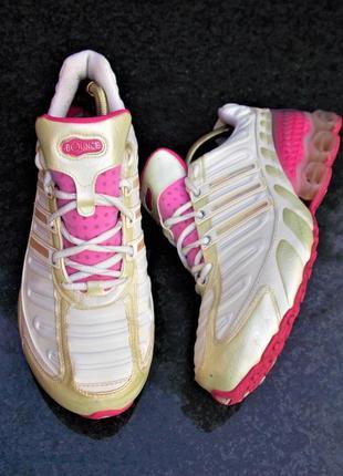 """Р.41 """"adidas bounce"""" оригинал, кожаные кроссовки"""