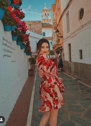 Johanna ortiz dress h&m трендова сукня 2020 з воланами віскоза рукав 3/4