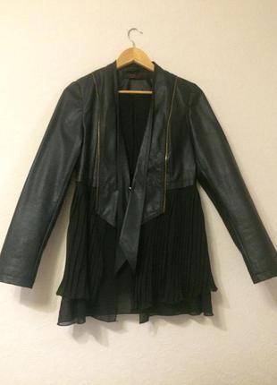 Курточка-пиджак с шифоновым низом