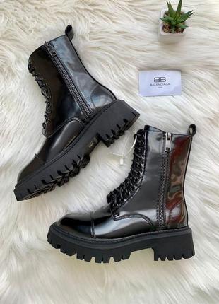 Ботинки женские balenc tractor lacquer (лак)