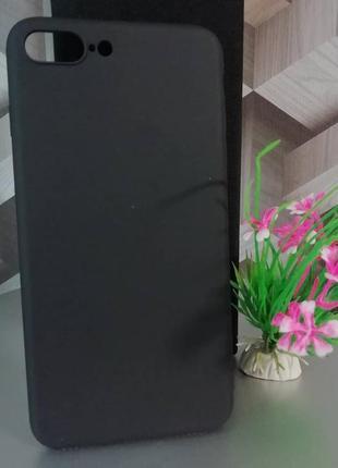 Силиконовый чехол для iphone 7 plus чёрный