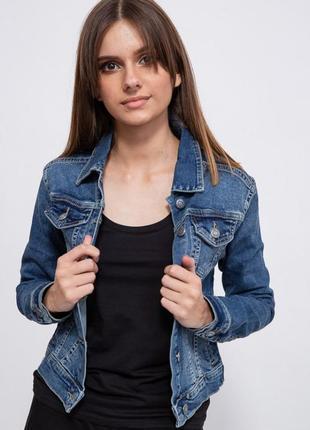 Синяя женская джинсовая куртка 32;34;36;38;40;42