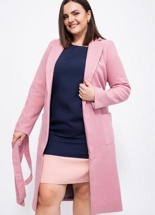 Женское розовое пальто миди кашемир с подкладкой 46;48