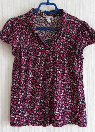 Блуза в цветочек