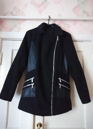 Трендовое пальто косуха, натуральный кашемир