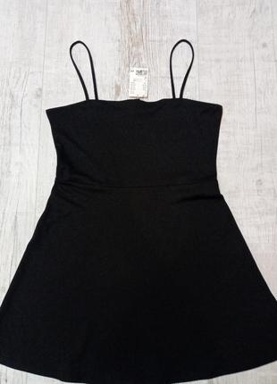 Женский сарафан платье на тонких бретелях от h&m