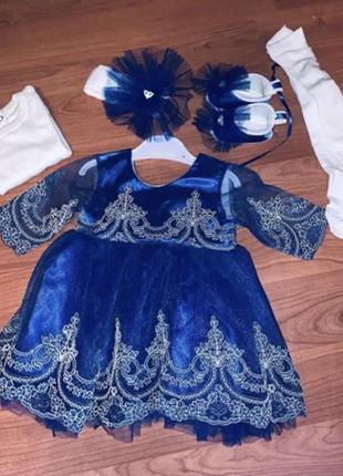 Комплект на крещение  , нарядное платье
