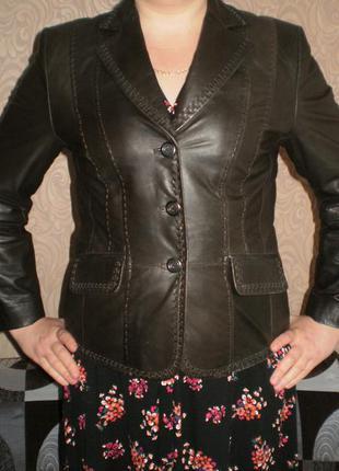 Кожаный пиджак, куртка,gerry weber (гери вебер) 48-50р., смотрим замеры.