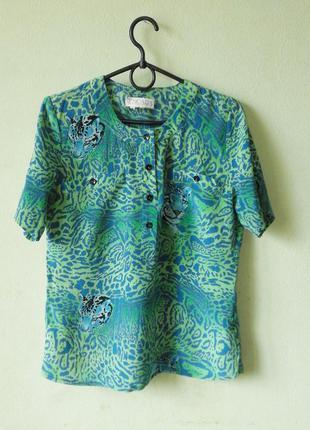 Шелковая винтажная блуза escada