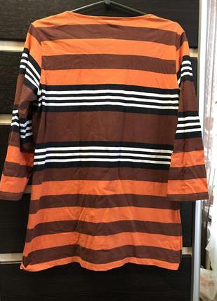 Кофта полосатая яркая оранжевая полоска