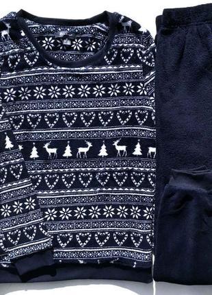Фирменная флисовая пижама скандинавский принт primark love to lounge