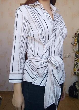 Красивая блуза, блузка с бантом2 фото