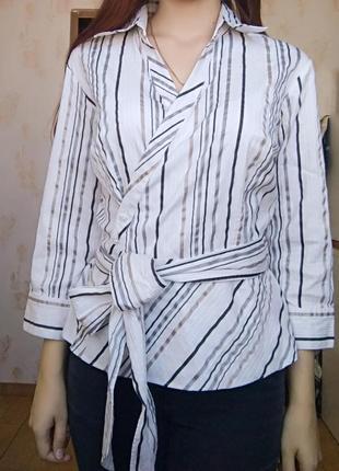 Красивая блуза, блузка с бантом1 фото