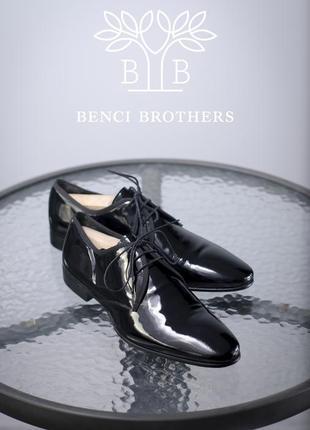 Дерби benci brothers, италия 40-41 оригинал кожаные мужские туфли